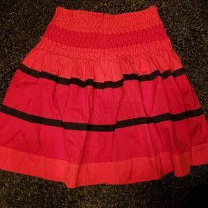 Karen Millen Red & Black A-Line Skirt